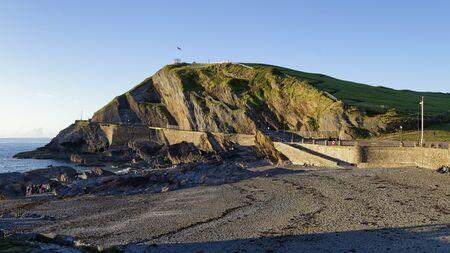 Late Sun on Wildersmouth Beach & Capstone Point, Ilfracombe, Devon, UK