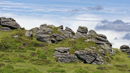 Honeybag Tor, Bonehill Down, Dartmoor, Devon, UK