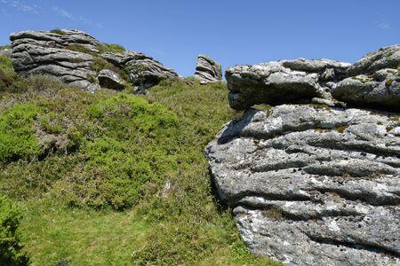 Honeybag Tor, Bonehill Down, Dartmoor, Devon, UK