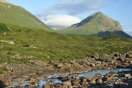 River Sligachan, Glen Sligachan and Marsco Mountain, Skye