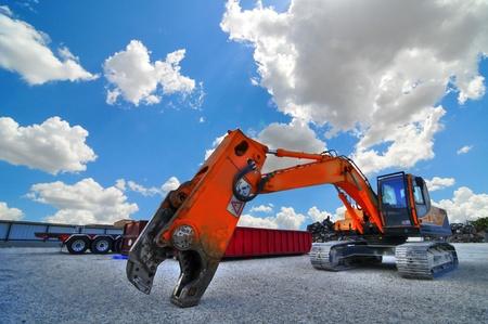 construction equipment,blue sunny skies
