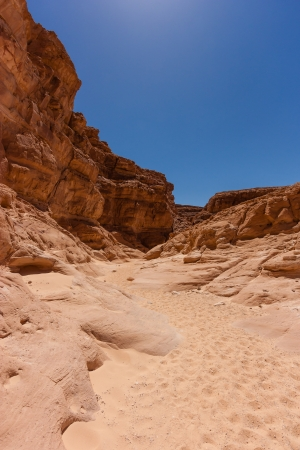 sinai: Sand and cliffs in the remote desert