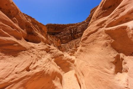 A sandstand desert canyon Stock Photo