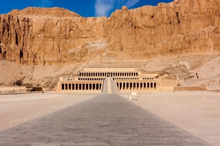 룩소르, 이집트 여왕 하트셉수트 사원 스톡 콘텐츠