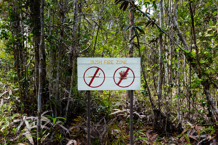 Jungle sign warning of fire risk photo