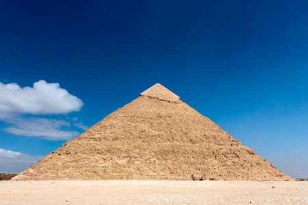 subsequent: The pyramid of Khafre  in the desert sands on the outskirts of Cairo, Egypt   Since the 2011 revolution and subsequent coup tourism has dropped massively in Egypt
