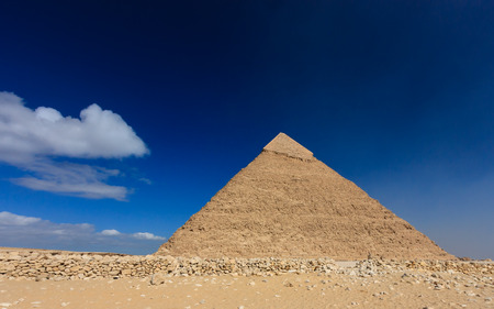 masr: A deserted area around the pyramid of Khafre in Giza, Cairo, Egypt