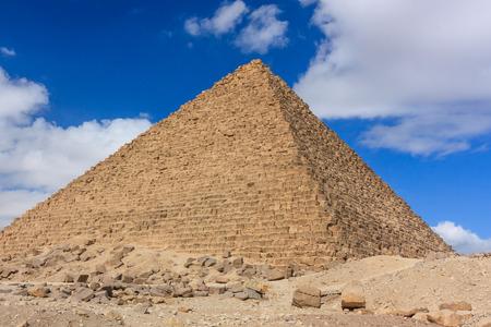 masr: One of the ancient pyramids at Giza, Cairo