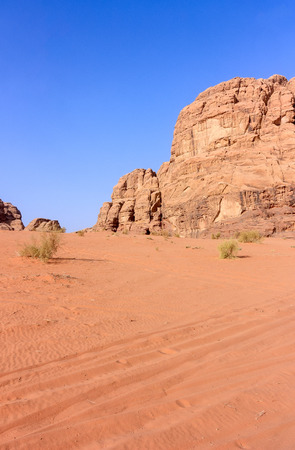 Early morning sun on a dry, desert landscape