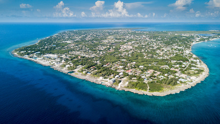 Aerial view of Grand Cayman island in the Caribbean Stock fotó - 83852191