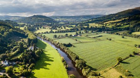 Rural farmland in South Wales
