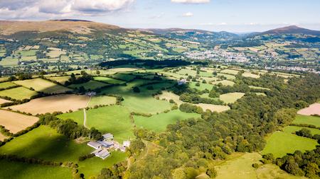 A rural farming area in South Wales Фото со стока - 87865080