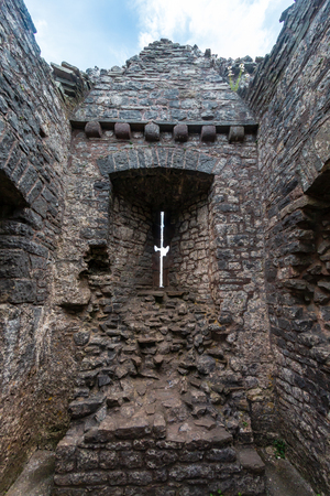Inside an ancient ruined castle (Carreg Cennen)
