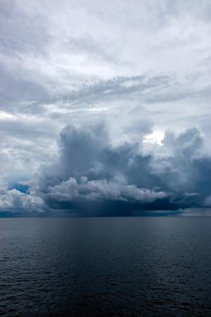 Threatening storm clouds over a tropical ocean Reklamní fotografie