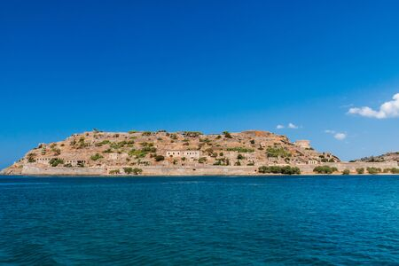 The ancient Venetian fortress on the island of Spinalonga on the Greek island of Crete