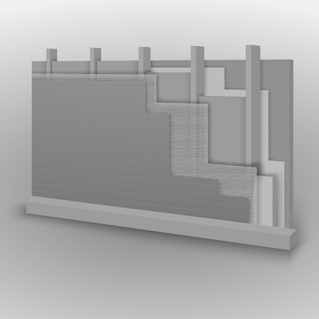 siding: Wall and floor construction details, vector