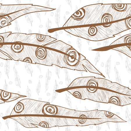 mehandi: feathers ornament pattern vector nature Stock Photo