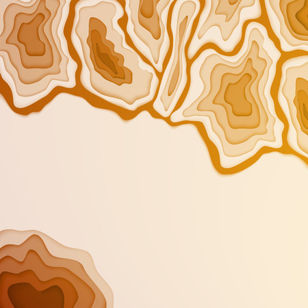 rockies: Mountain landscape. Paper cut style. Vector background