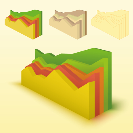 3d bar chart, bar graph element. Editable vector graphics. Illustration for business, finance, growth concepts.