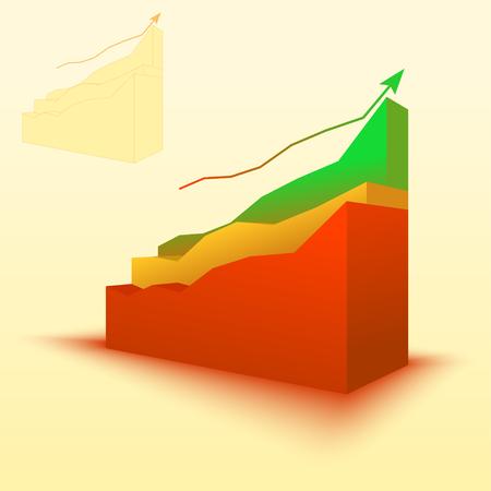 Balkendiagramm 3d, Balkendiagrammelement. Illustration für Geschäft, Finanzierung, Wachstumskonzepte. Standard-Bild - 90916578