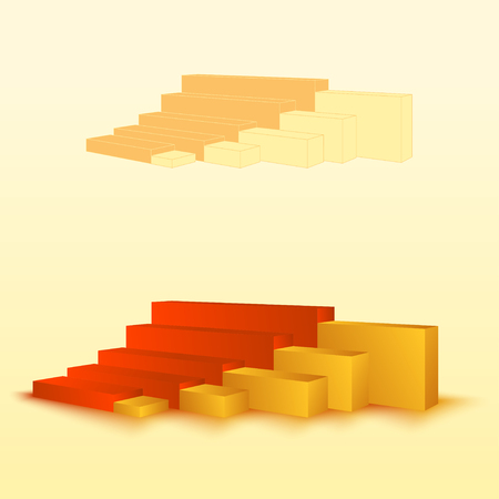 3d bar chart, bar graph element. Editable graphics. Illustration for business, finance, growth concepts.
