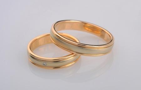 wedding bands: wedding rings Stock Photo