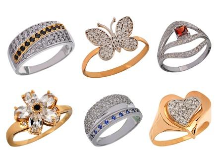 precious stones: beautiful jewelry with precious stones Stock Photo