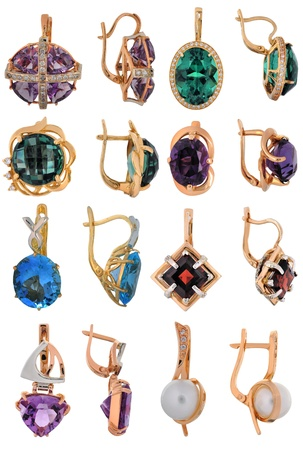 Beautiful jewelry made of gold and precious stones