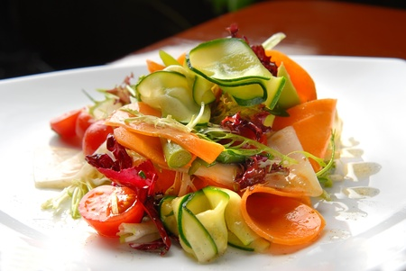 beautiful and tasty food on a plate Stock Photo