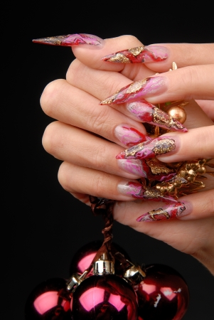 manicures beautiful pattern on nails
