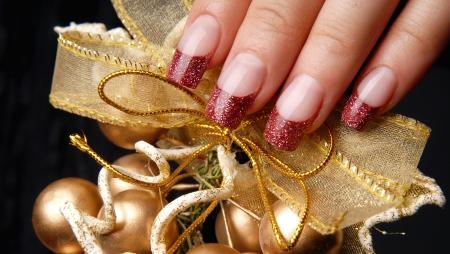manicures beautiful pattern on nails Stock Photo - 15850542