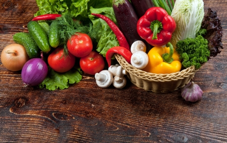 chasnok: vegetables and fruits Stock Photo