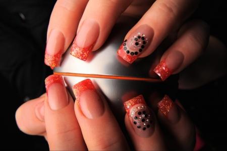 manicures beautiful pattern on nails Stock Photo - 16763886