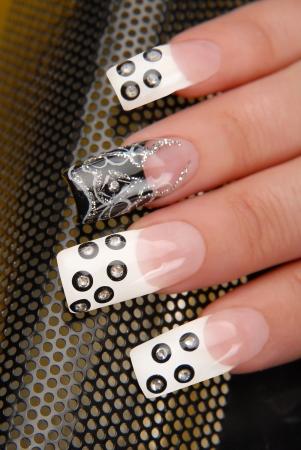 manicures beautiful pattern on nails Stock Photo - 16763885