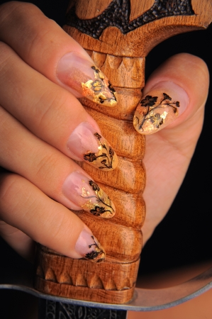 manicures beautiful pattern on nails Stock Photo - 16763916
