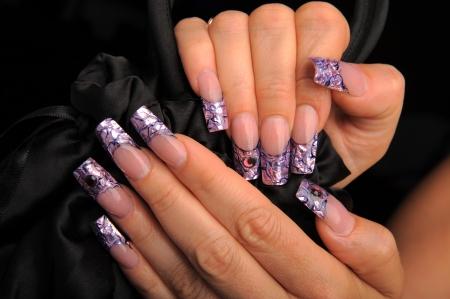 manicures beautiful pattern on nails Stock Photo - 16763890