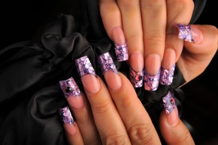 manicures beautiful pattern on nails Stock Photo - 16763883