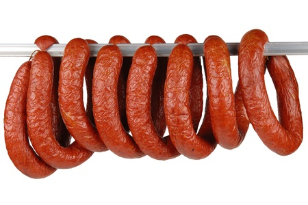 tasty sausage meat on a white background Stock Photo - 16901599