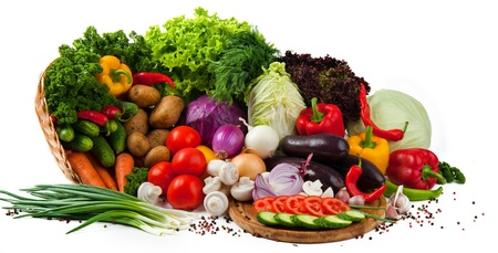 chasnok: tasty and healthy food vegetables and fruits Stock Photo