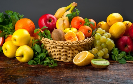 exotic fruits: tasty and healthy food vegetables and fruits Stock Photo