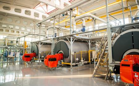 Ukraine. Modern boiler room equipment- high power boiler burner
