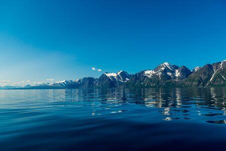 Felsen des Sognefjords, der drittlängste Fjord der Welt und der größte Norwegens. Standard-Bild