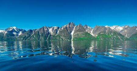 Rocks of the Sognefjord, the third longest fjord in the world and largest in Norway.