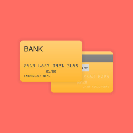 debit: Blank debit or credit card vector illustration
