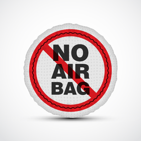 airbag: No airbag vector illustration. Isolated car safety cushion. Illustration