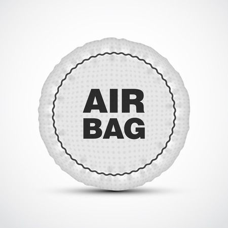deployed: Airbag vector illustration. Isolated car safety cushion. Illustration