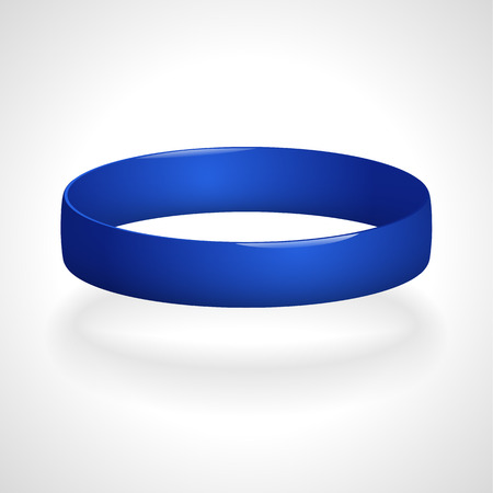 Bracelet Promo. Bracelet en silicone pour la main. Vector illustration.