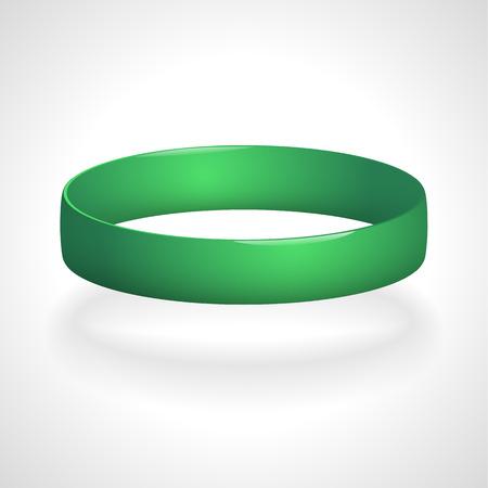 Promo bracelet. Silicone bracelet for hand. Vector illustration.