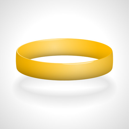 rubber band: Promo bracelet. Silicone bracelet for hand. Vector illustration.