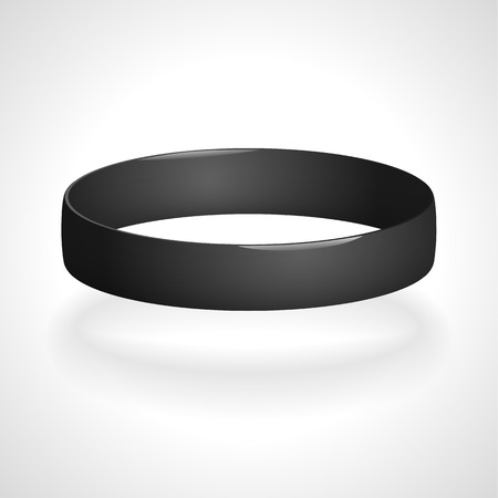 elastic band: Promo bracelet. Silicone bracelet for hand. Vector illustration.
